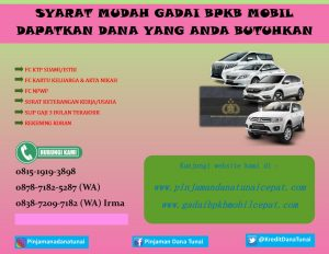 Syarat Gadai BPKB Mobil Mudah dan Tidak Ribet