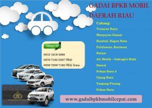 Gadai BPKB Mobil Daerah Riau